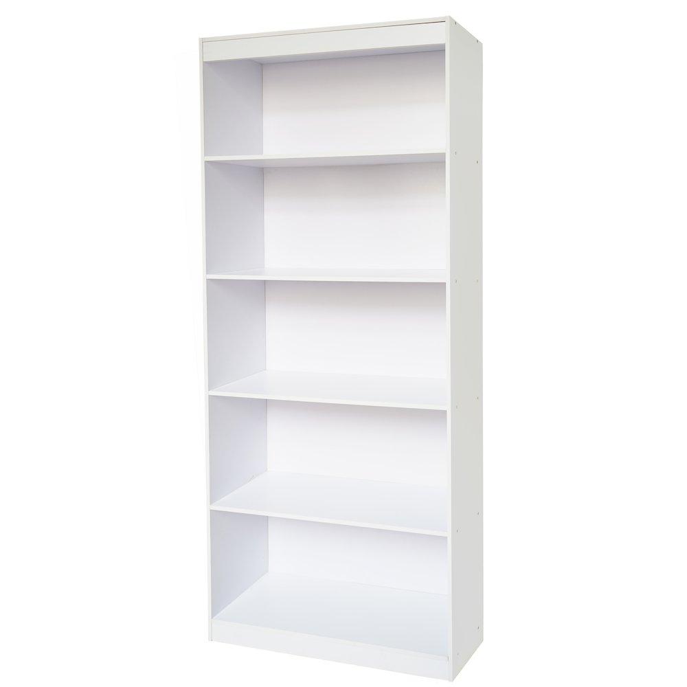 White Home 5 Shelf Bookcase