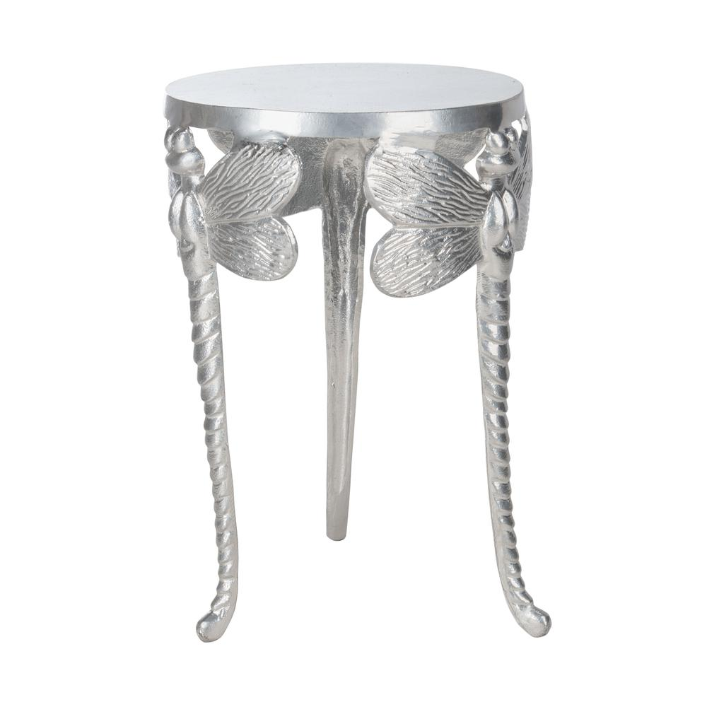 Melika Dragonfly Legs Accent Table, Silver. Picture 6