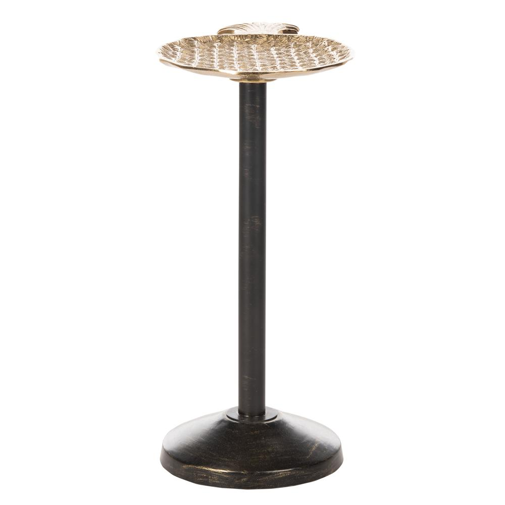 Luana Pinapple Top Accent Table, Gold/Antique Gold