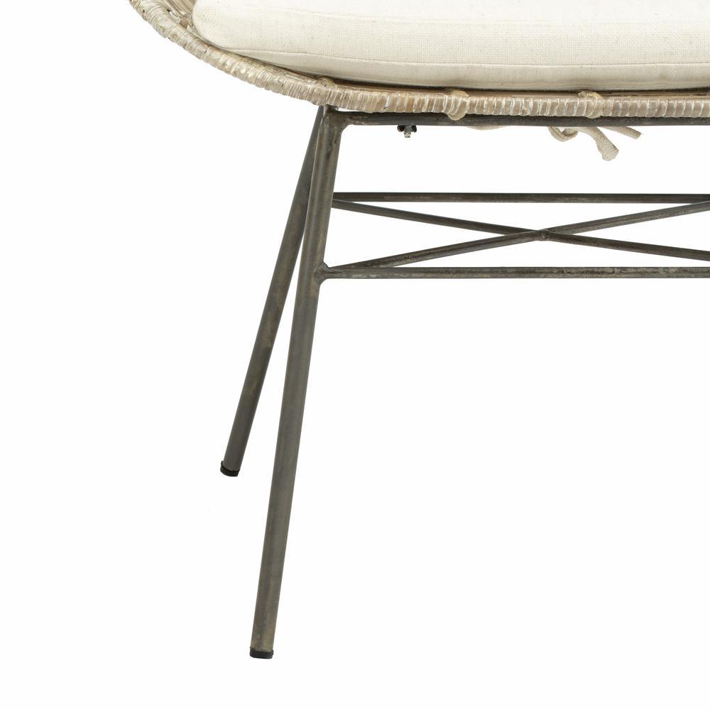 Malia Rattan Wingback Armchair, White Wash. Picture 6
