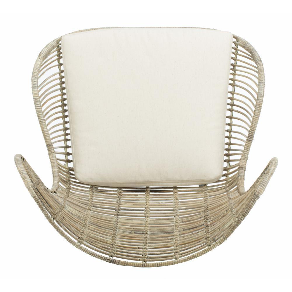Malia Rattan Wingback Armchair, White Wash. Picture 10
