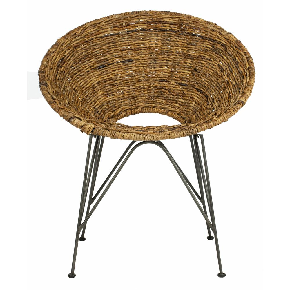 Sierra Rattan Accent Chair, Natural/Dark Steel. The main picture.