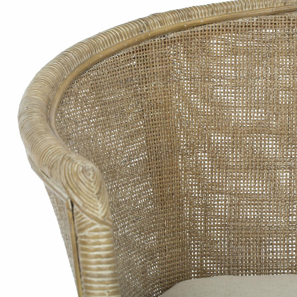 Alexana Rattan Armchair, Grey White Wash. Picture 11