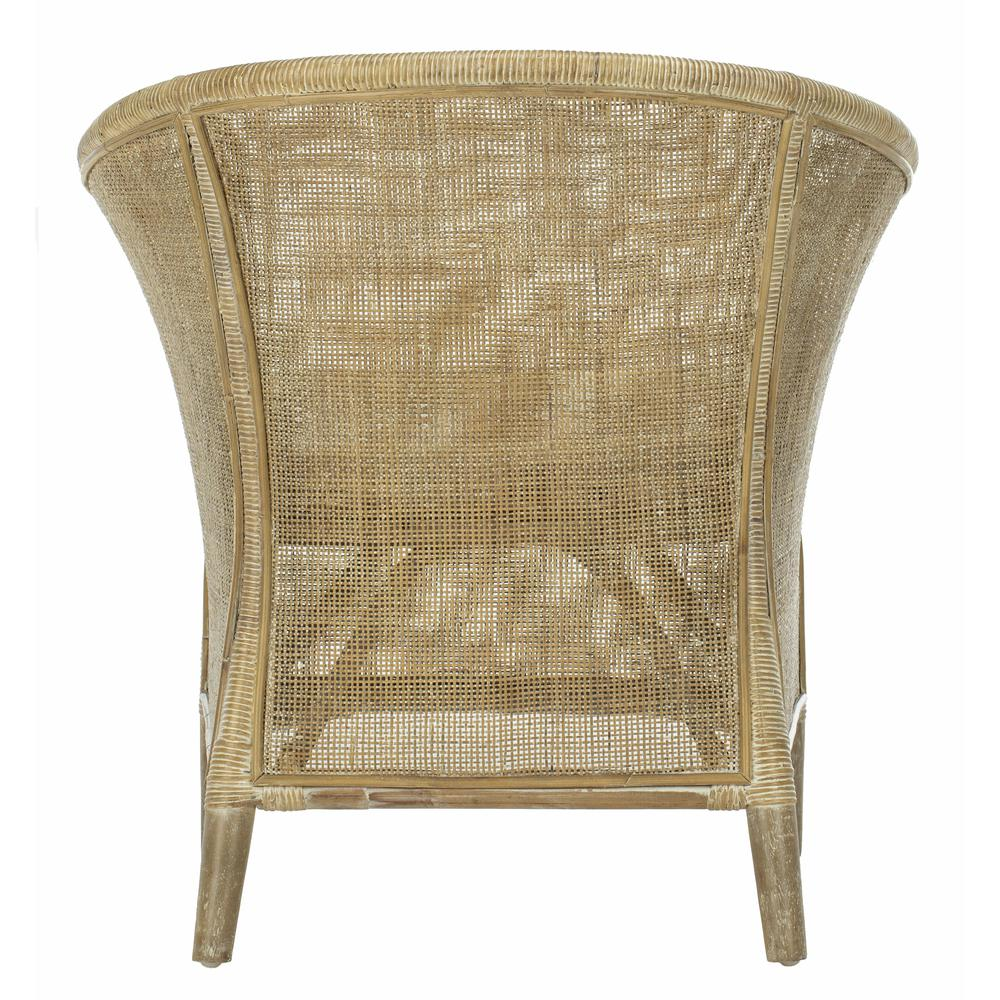 Alexana Rattan Armchair, Grey White Wash. Picture 2