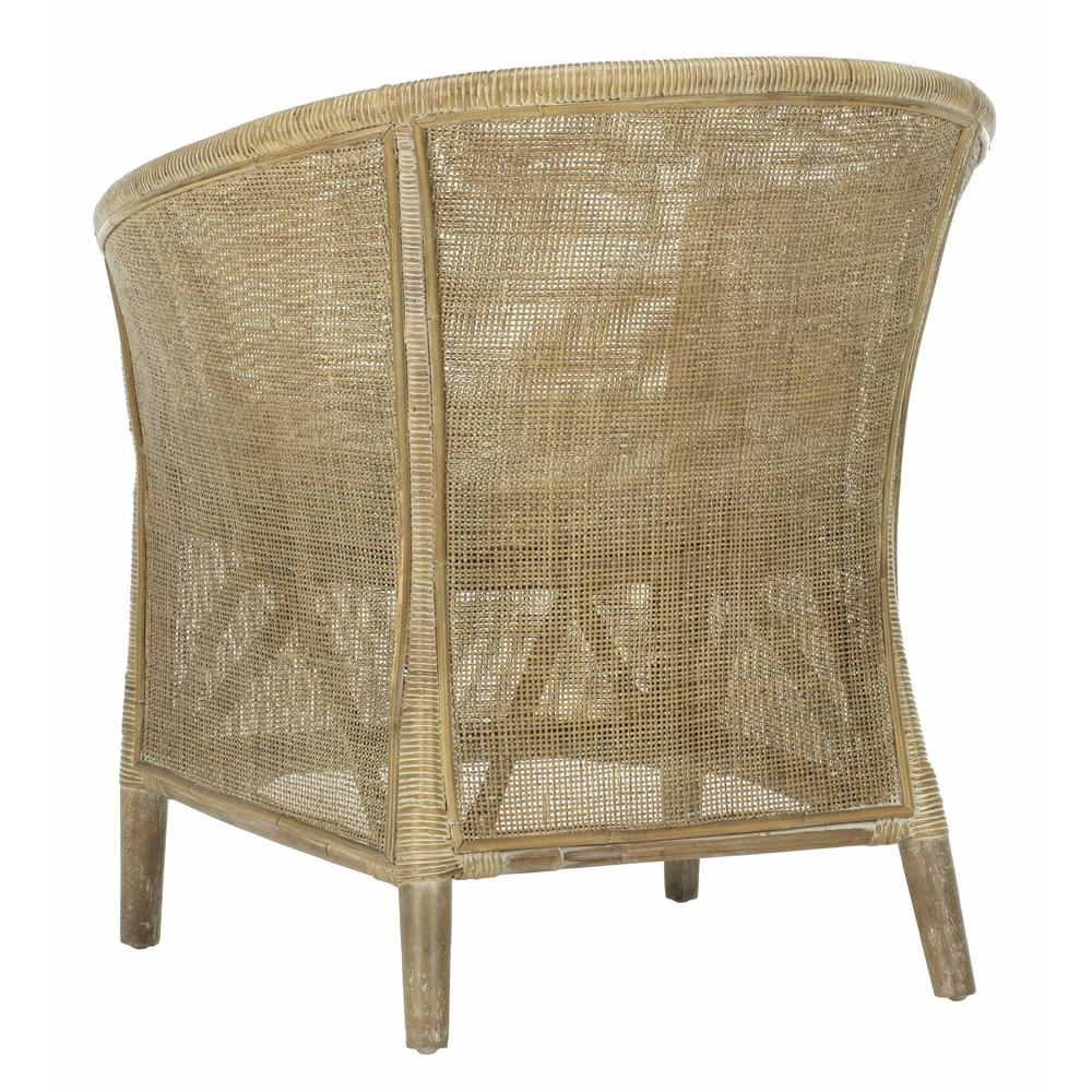 Alexana Rattan Armchair, Grey White Wash. Picture 3