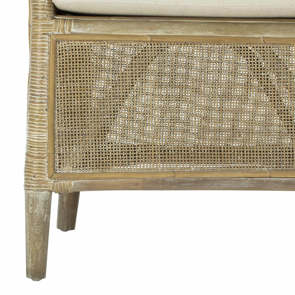 Alexana Rattan Armchair, Grey White Wash. Picture 5