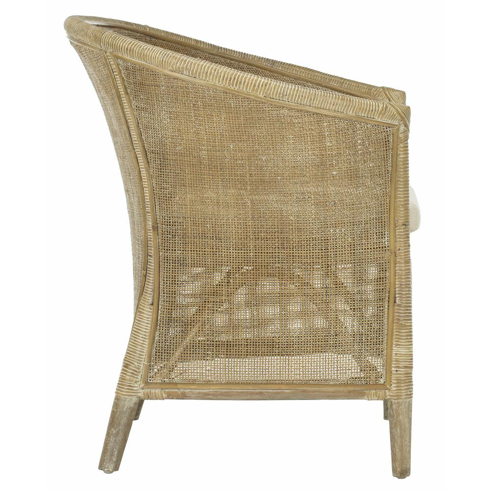 Alexana Rattan Armchair, Grey White Wash. Picture 9