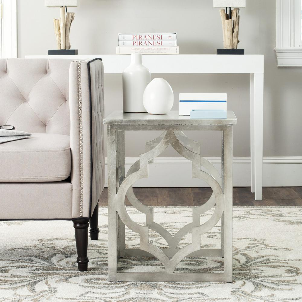 MILO TRELLIS SILVER LEAF END TABLE. The main picture.