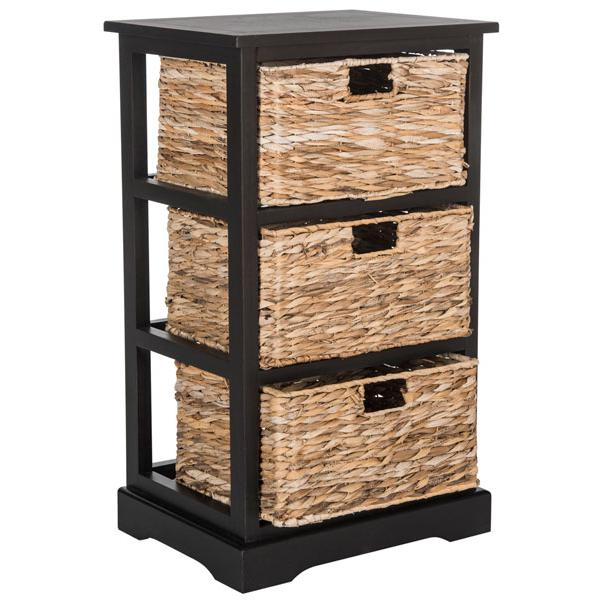 HALLE 3 WICKER BASKET STORAGE SIDE TABLE, AMH5738A. Picture 1