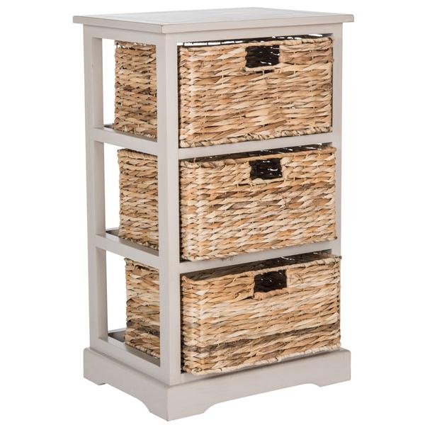 HALLE 3 WICKER BASKET STORAGE SIDE TABLE, AMH5738D. Picture 1