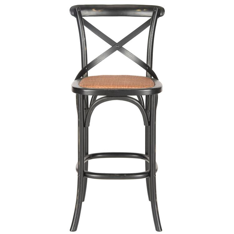 FRANKLIN X BACK BAR STOOL, AMH9502B. Picture 1