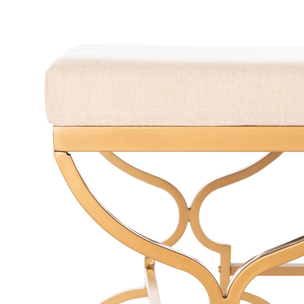Juliet Rectangular Bench, Beige/Gold. Picture 2