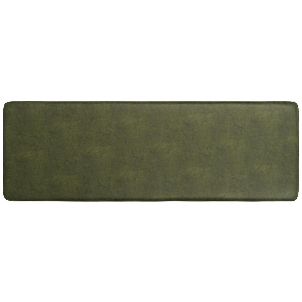 Chase Faux Leather Bench, Dark Green. Picture 9