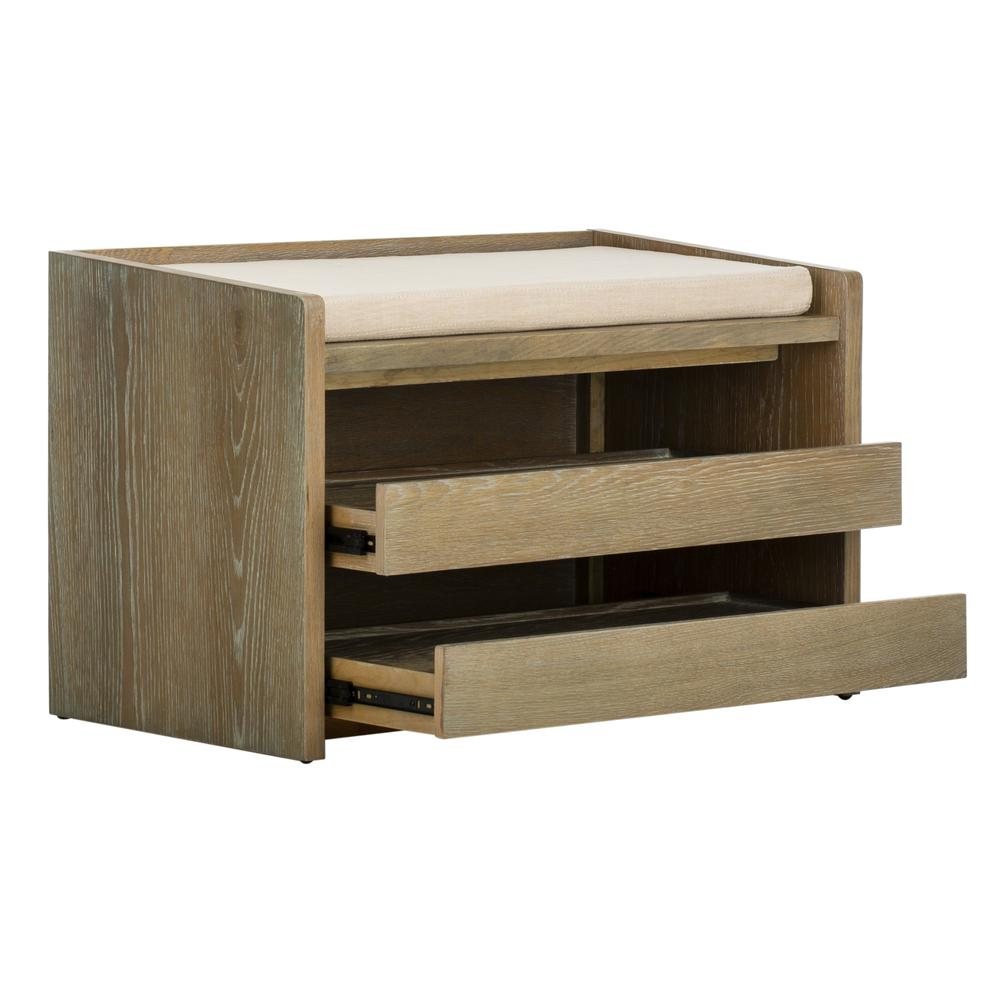 Percy Storage Bench, Rustic Oak/Beige. Picture 8