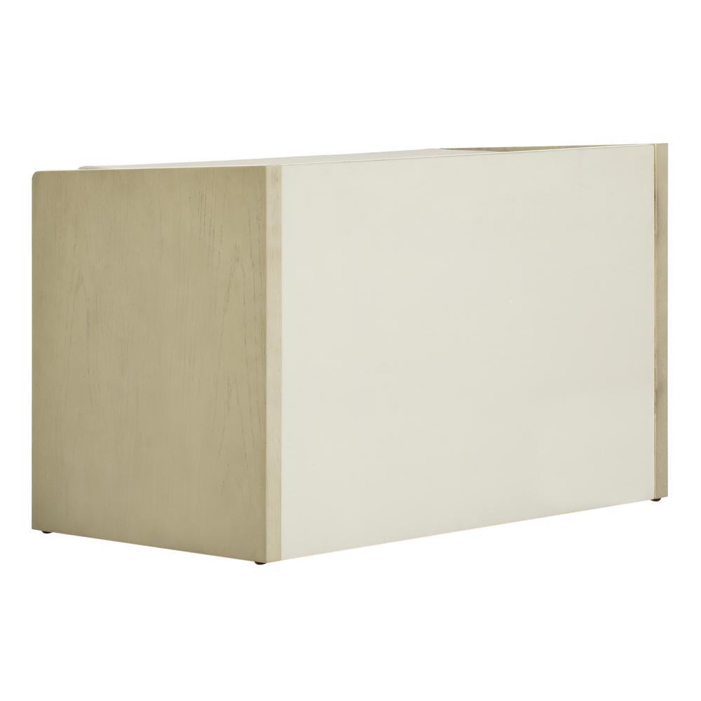 Percy Storage Bench, White Wash/Beige. Picture 3