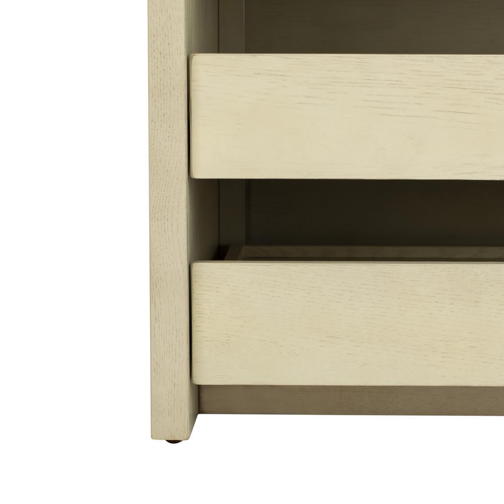 Percy Storage Bench, White Wash/Beige. Picture 6