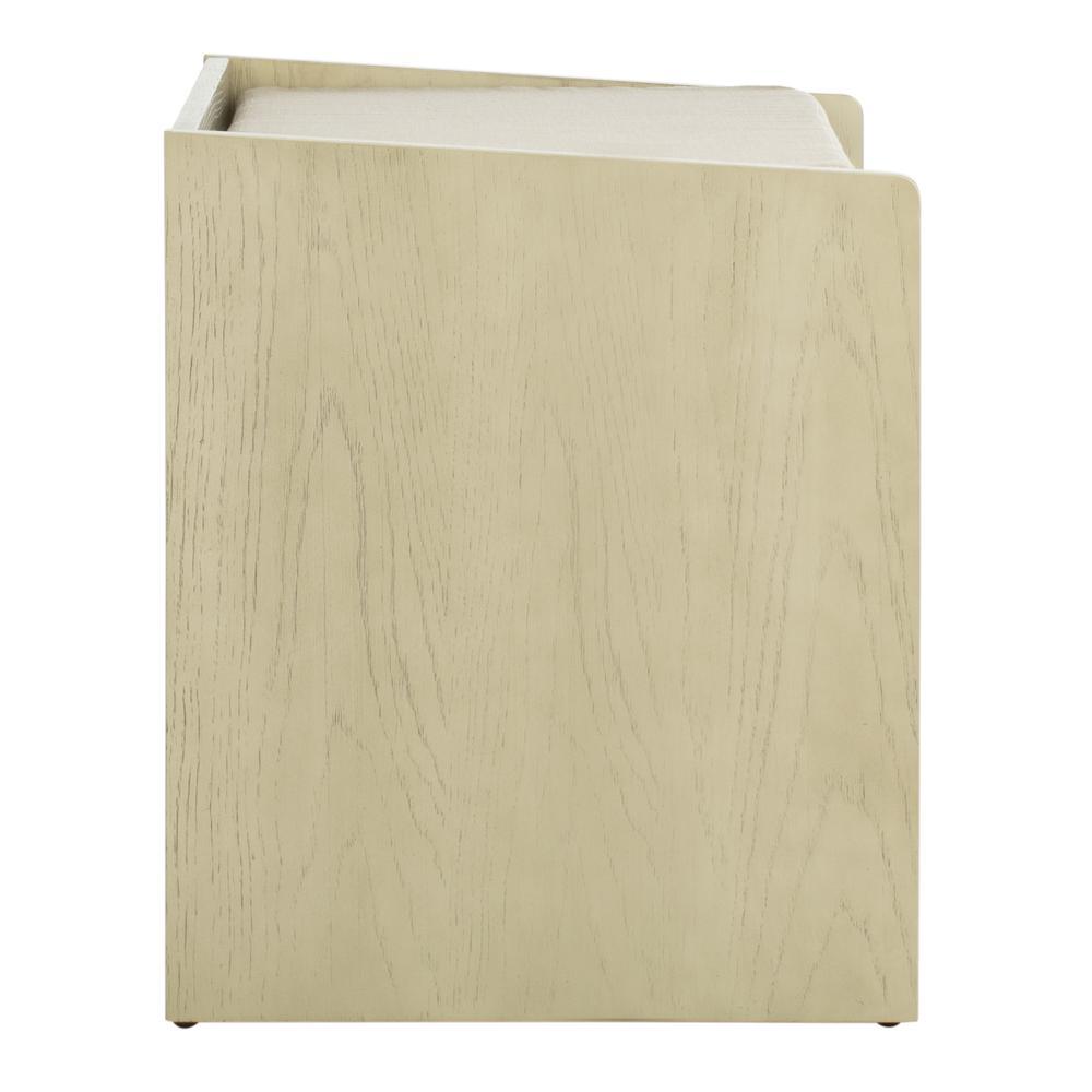 Percy Storage Bench, White Wash/Beige. Picture 9