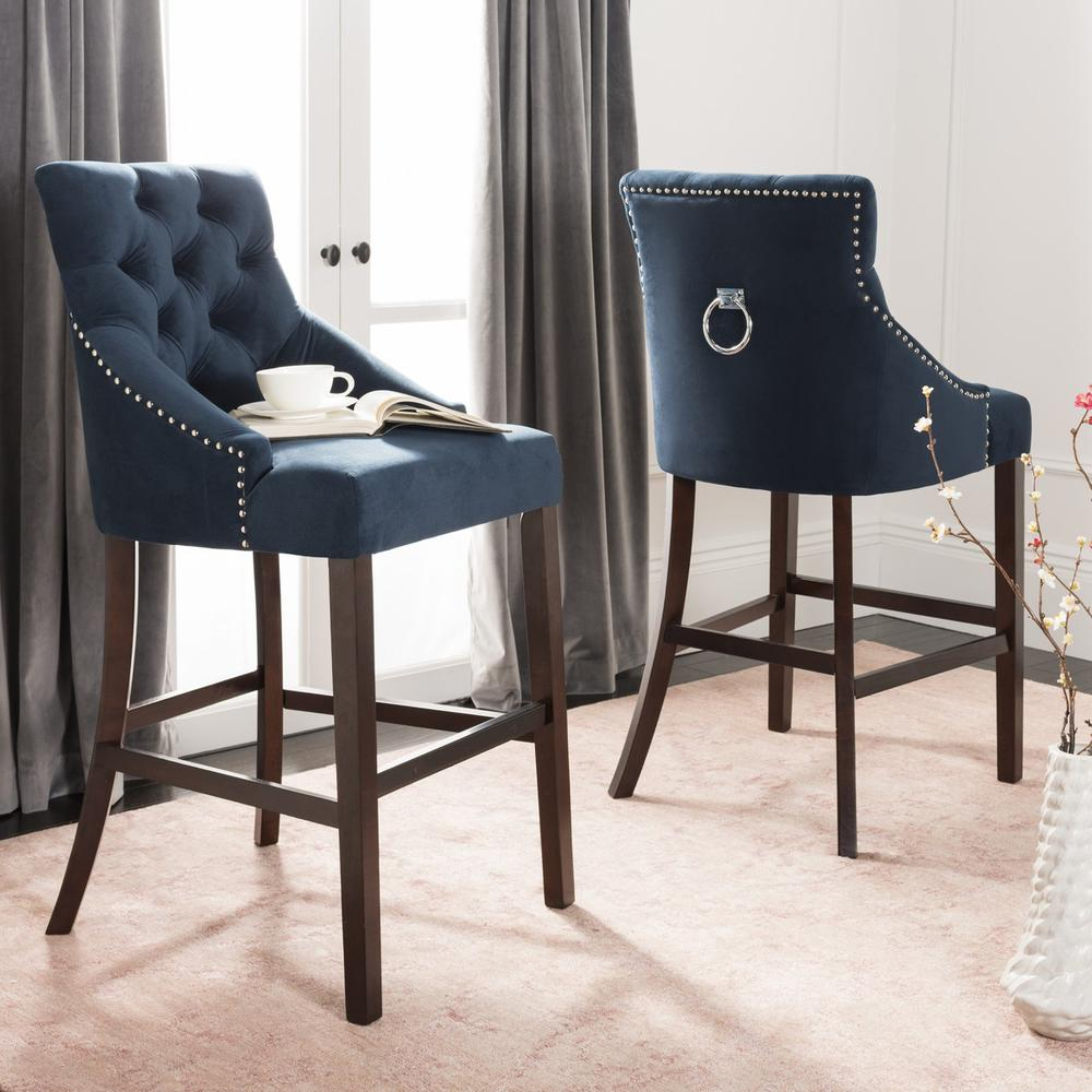ELENI TUFTED WING BACK BAR STOOL, BST6304A-SET2. Picture 1
