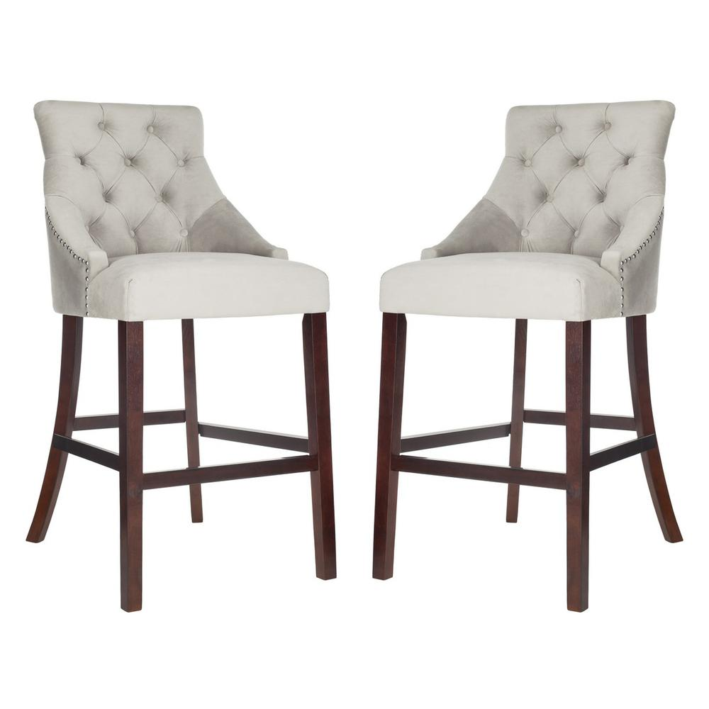 ELENI TUFTED WING BACK BAR STOOL, BST6304B-SET2. Picture 1