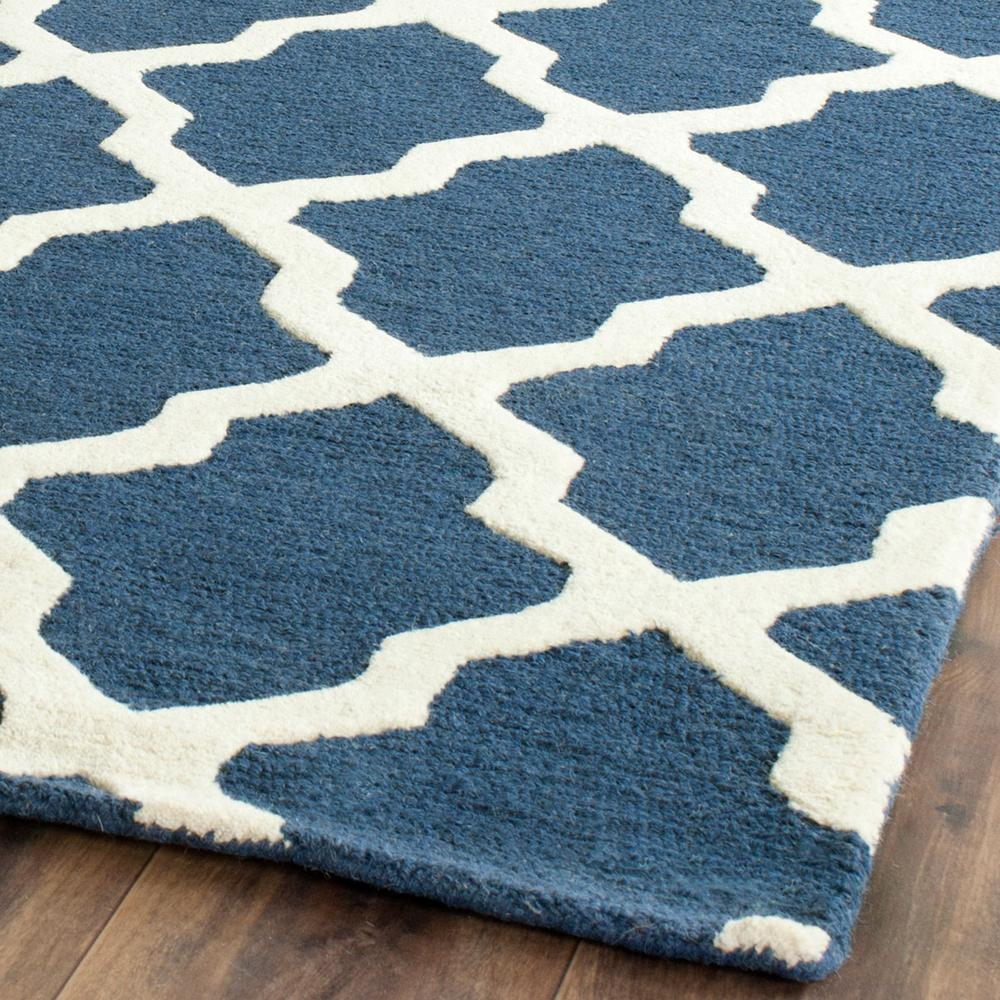 CAMBRIDGE, NAVY BLUE / IVORY, 10' X 14', Area Rug, CAM121G-10. Picture 1