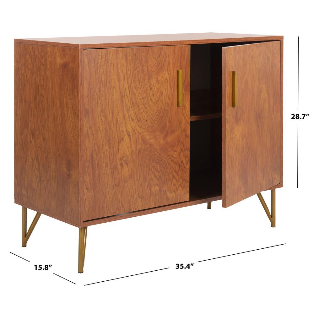 Pine 2 Door Modular Tv Unit, Natural/Gold. Picture 6
