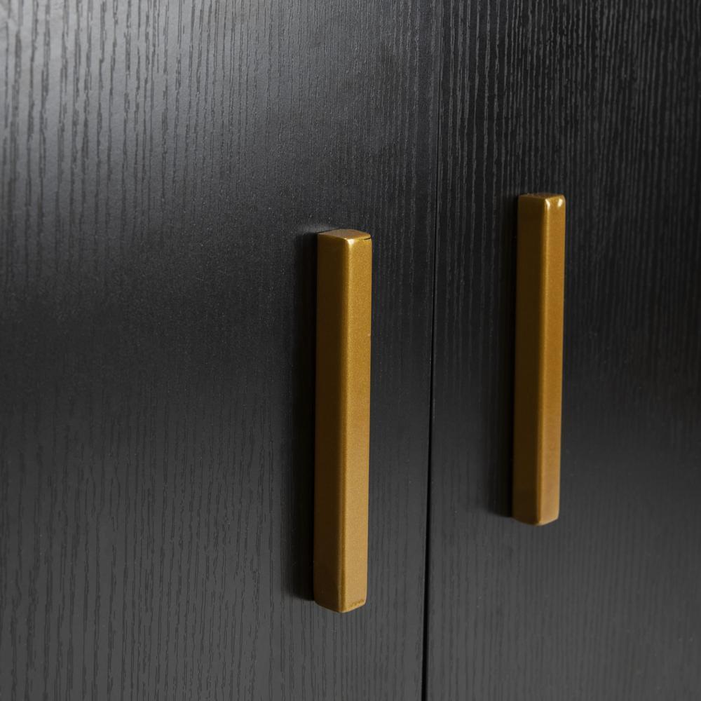 Pine 2 Door Modular Tv Unit, Black/Gold. Picture 4