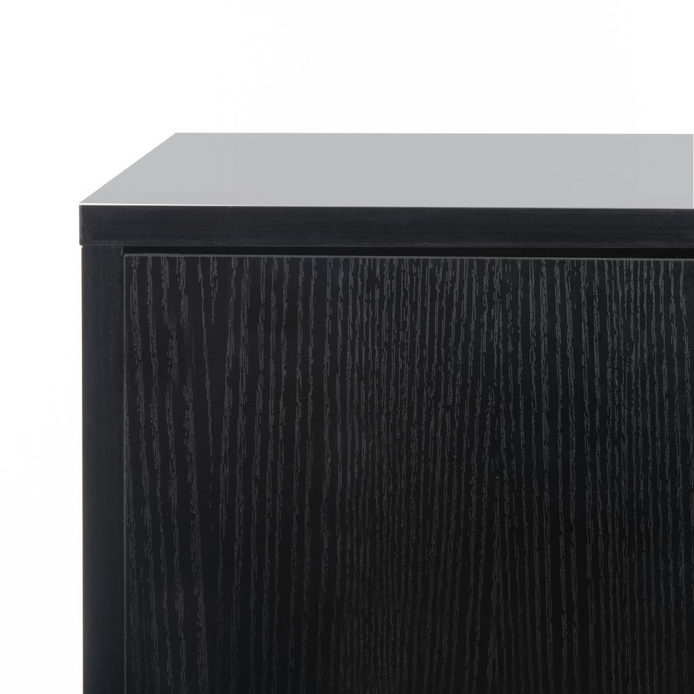 Pine 2 Door Modular Tv Unit, Black/Gold. Picture 5