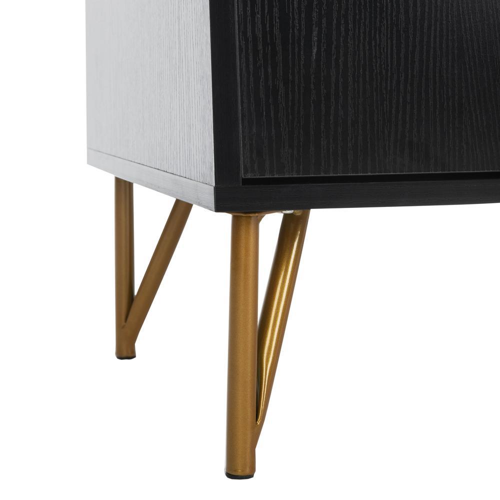Pine 2 Door Modular Tv Unit, Black/Gold. Picture 7