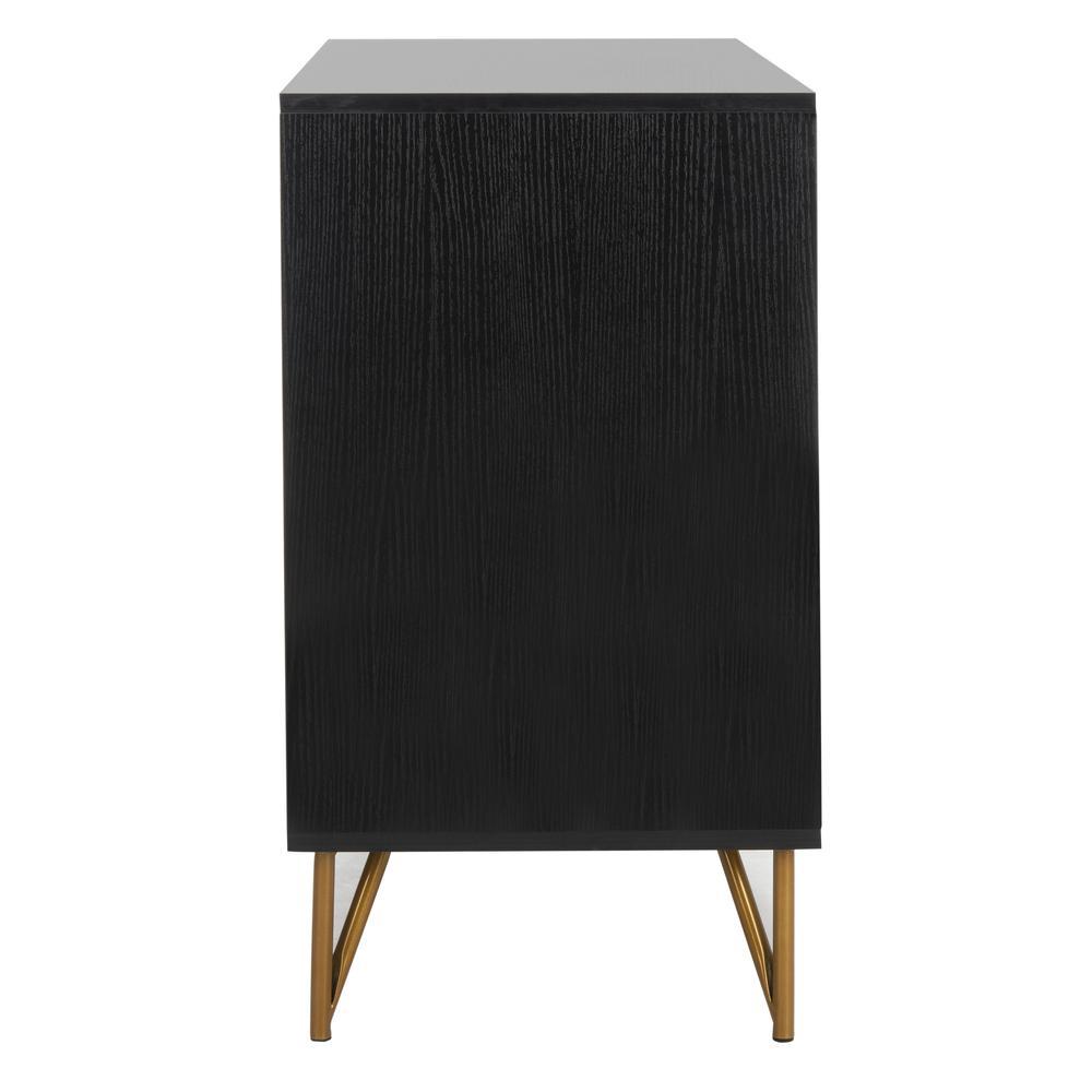 Pine 2 Door Modular Tv Unit, Black/Gold. Picture 9