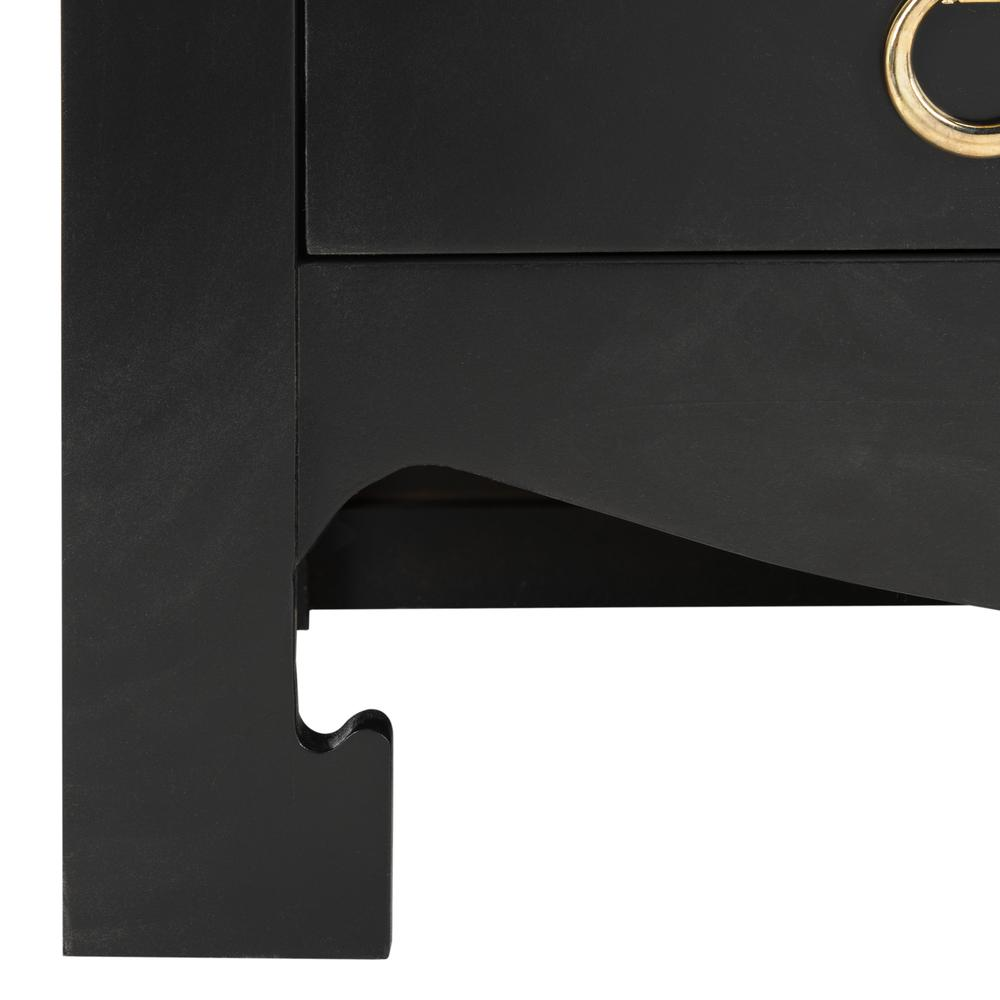 Dion 3 Drawer Chest, Black/Gold. Picture 4