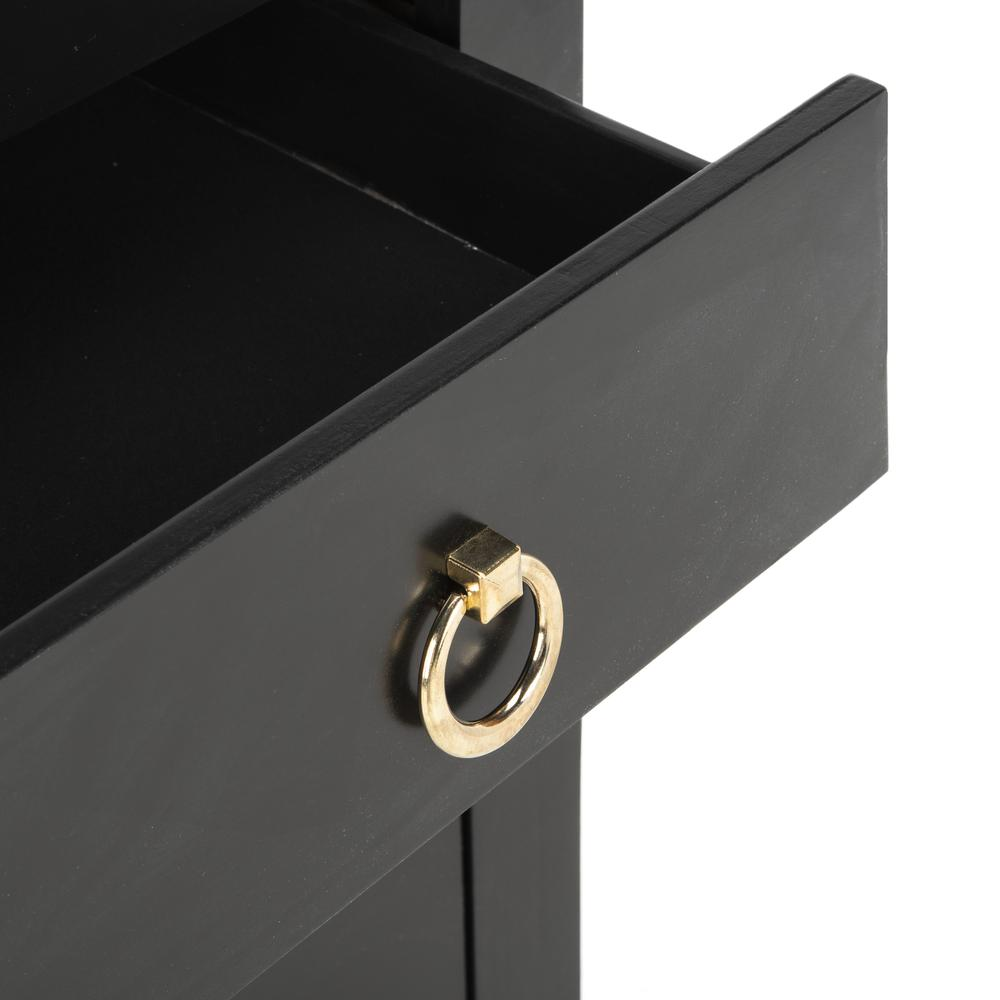 Dion 3 Drawer Chest, Black/Gold. Picture 5
