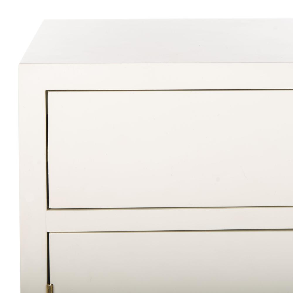 Nigel 2 Door 1 Drawer Chest, White. Picture 4