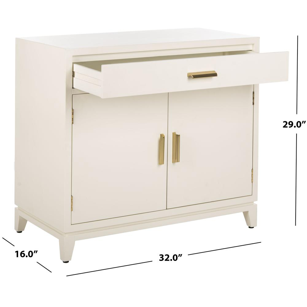 Nigel 2 Door 1 Drawer Chest, White. Picture 5