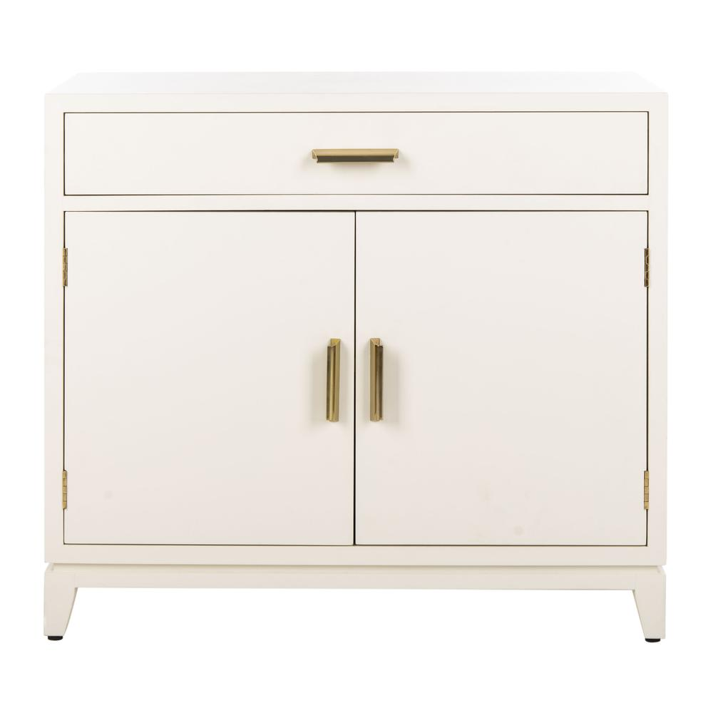 Nigel 2 Door 1 Drawer Chest, White. Picture 1
