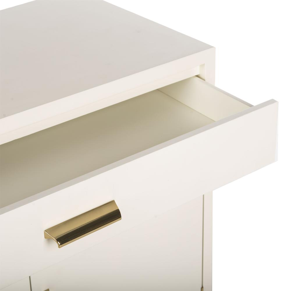 Nigel 2 Door 1 Drawer Chest, White. Picture 8