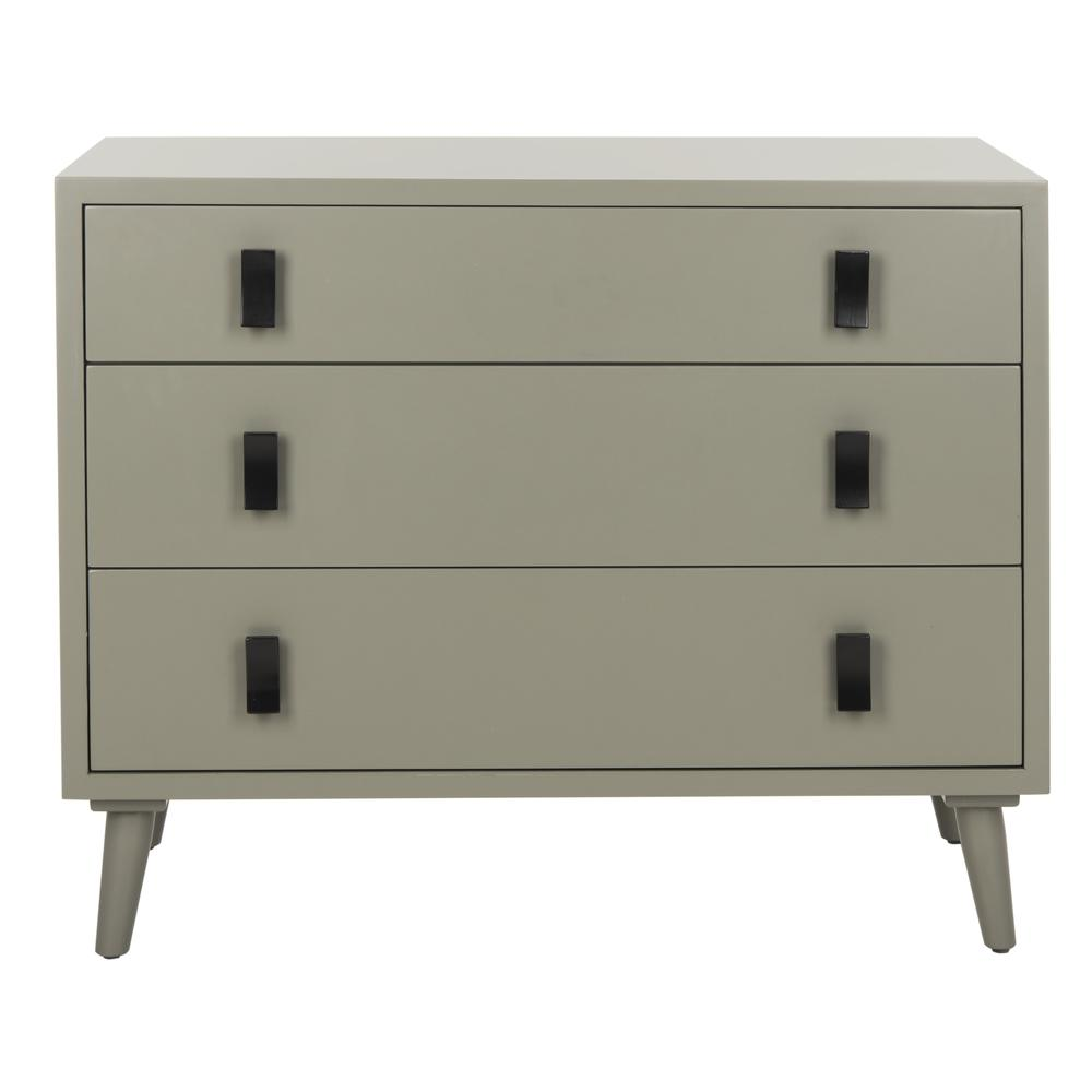Blaize 3 Drawer Chest, Dark Grey/Black. The main picture.