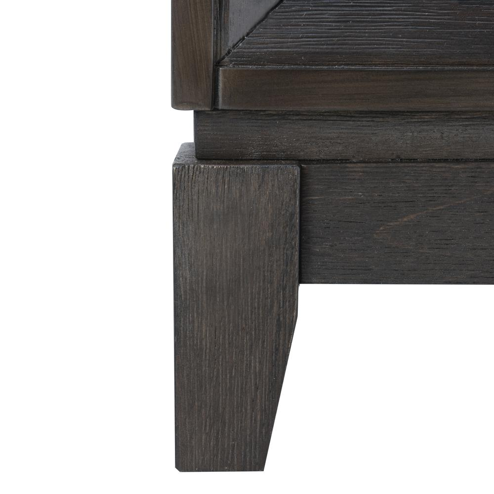 Shannon 2 Door Chest, Grey Wash Walnut/Mirror. Picture 6