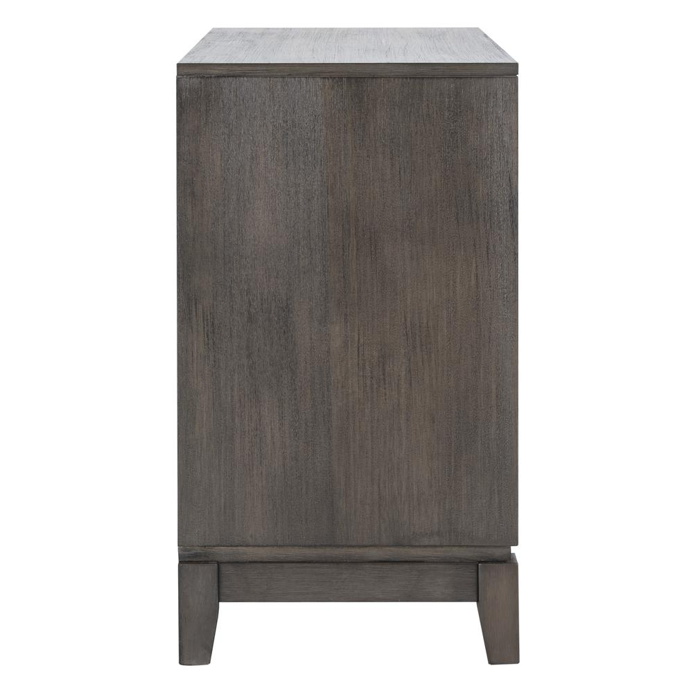 Shannon 2 Door Chest, Grey Wash Walnut/Mirror. Picture 11