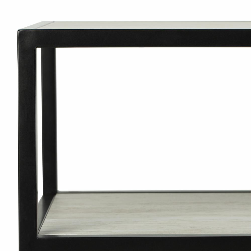 Reese Geometric Console Table, Beige/Black. Picture 2