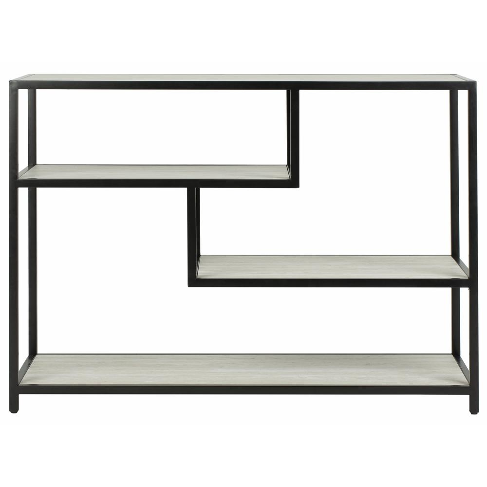 Reese Geometric Console Table, Beige/Black. Picture 1