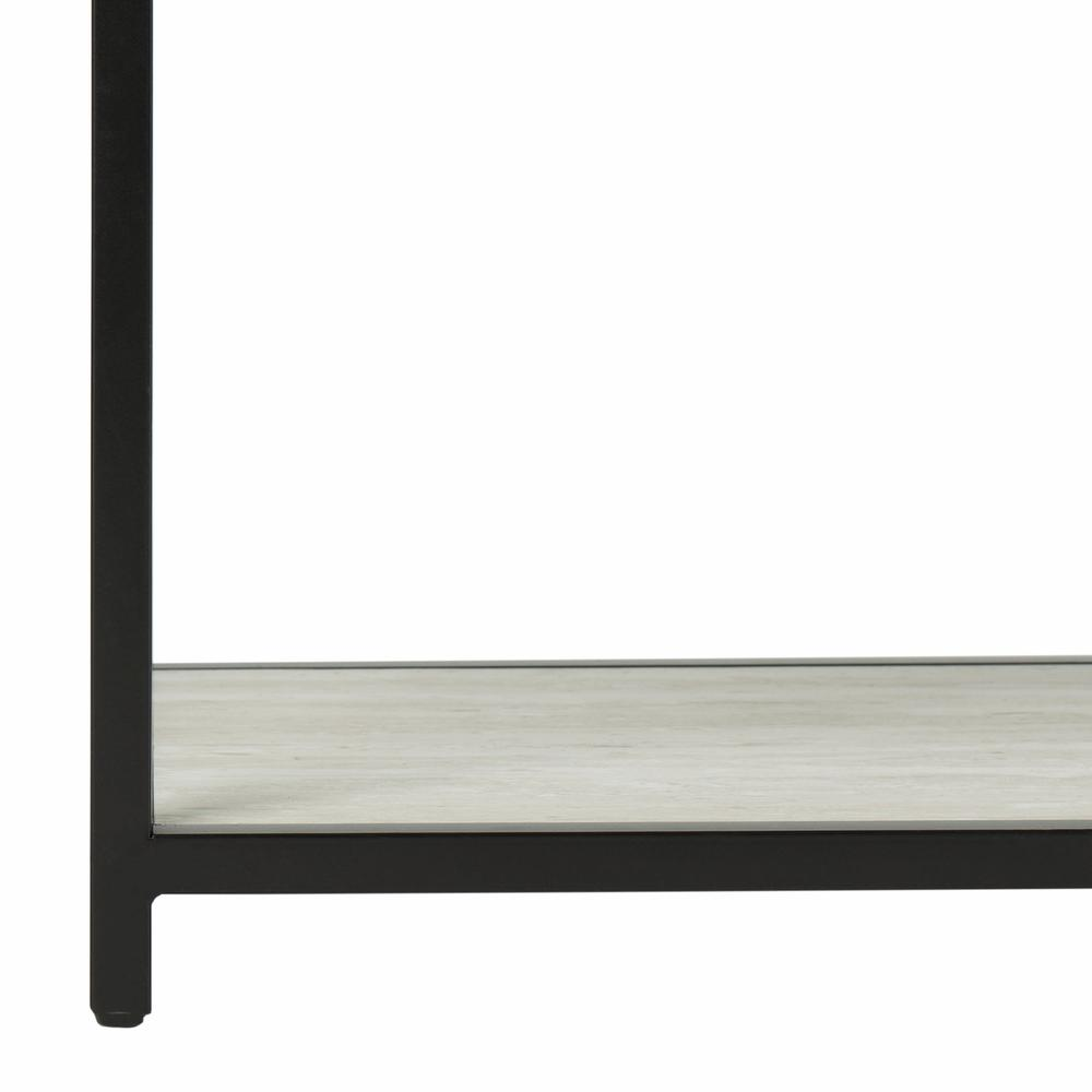 Reese Geometric Console Table, Beige/Black. Picture 4