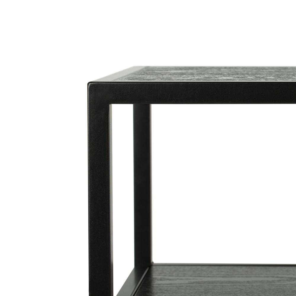 Reese Geometric Console Table, Black/Black. Picture 2