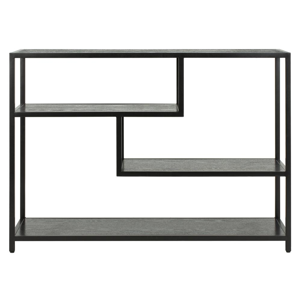 Reese Geometric Console Table, Black/Black. Picture 1