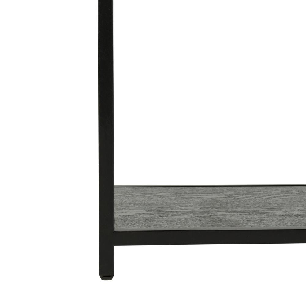 Reese Geometric Console Table, Black/Black. Picture 4