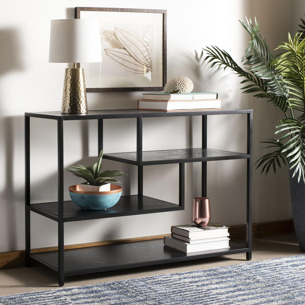 Reese Geometric Console Table, Black/Black. Picture 5