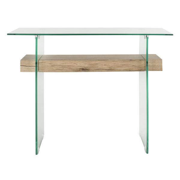 KAYLEY RECTANGULAR MODERN GLASS CONSOLE TABLE. Picture 1