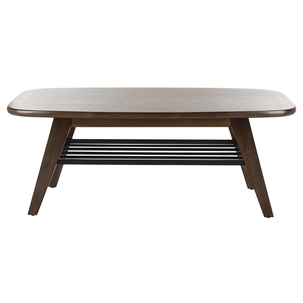 Oren 2 Tier Coffee Table, Dark Walnut. Picture 1