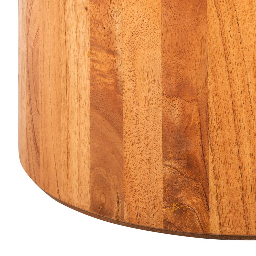 Devin Round Pedestal Coffee Table, Natural Brown. Picture 4