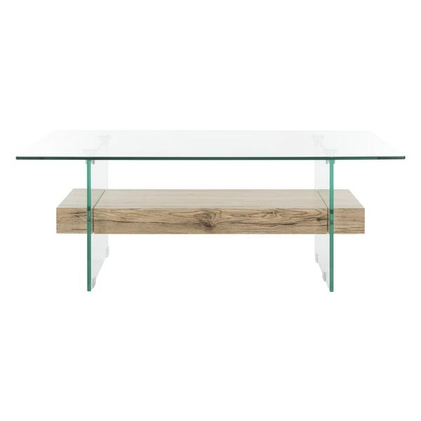 KAYLEY RECTANGULAR MODERN GLASS COFFEE TABLE. Picture 1