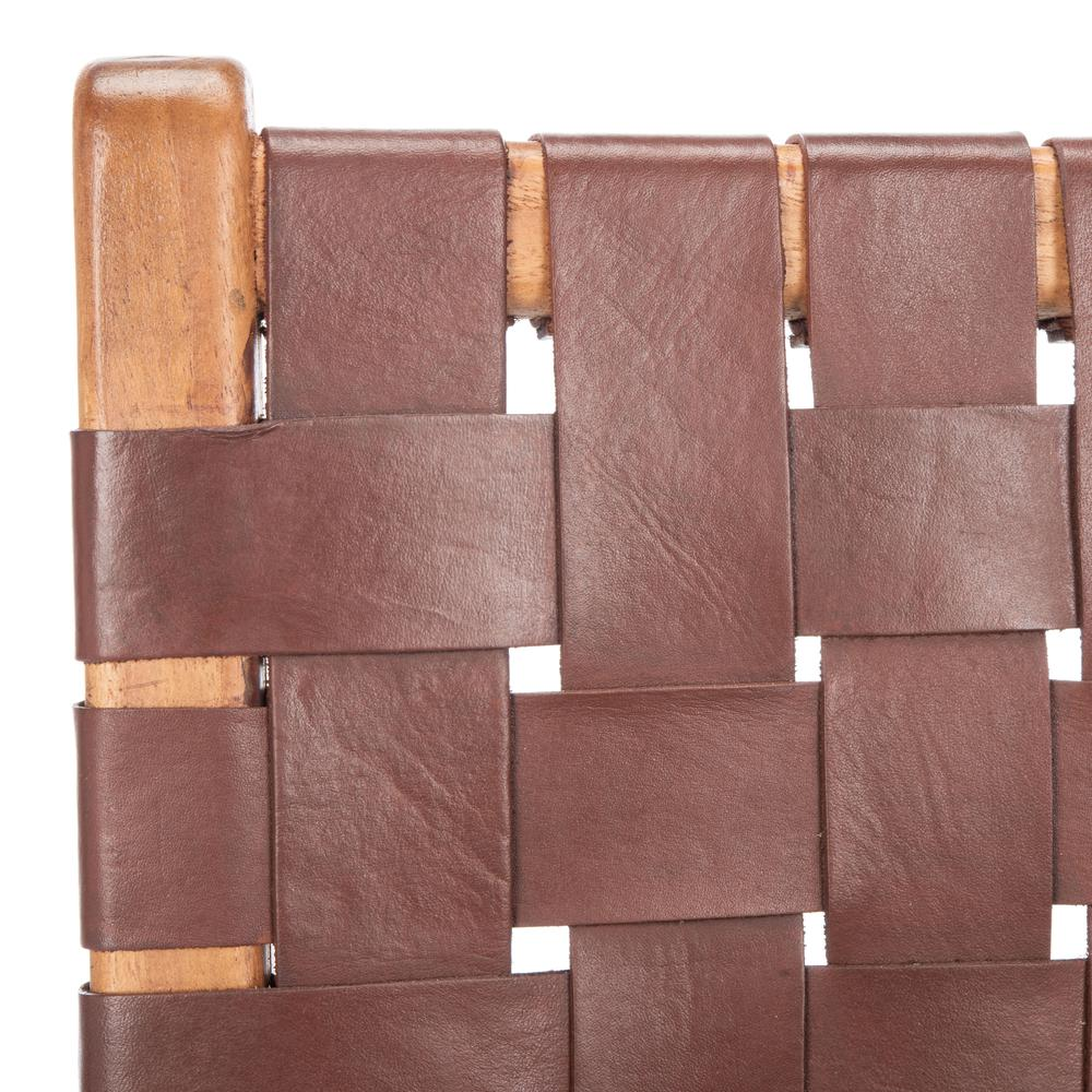 Taika Woven Leather Dining Chair, Cognac/Natural. Picture 4
